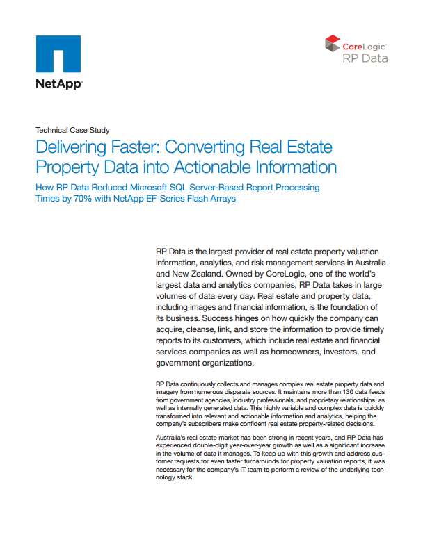 RP Data Technical Case Study: Converting Real Estate Property Data into Actionable Information