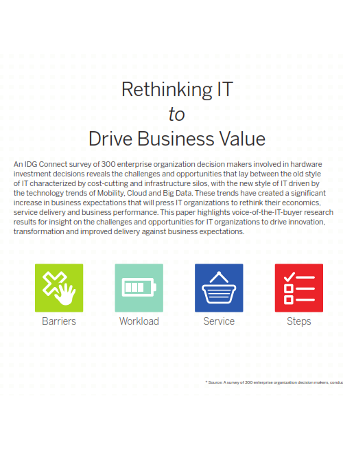Rethinking IT to Drive Business Value