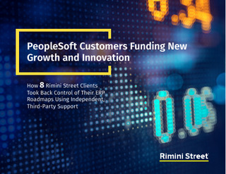 PeopleSoft Customers Funding New Growth and Innovation