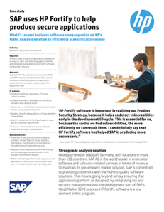 SAP Uses HP Fortify to Help Produce Secure Applications