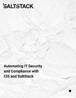 Automating IT Security and Compliance with CIS and SaltStack
