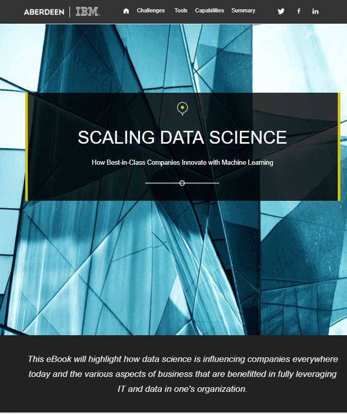 Scaling Data Science: How Best-in-Class Companies Innovate with Machine Learning