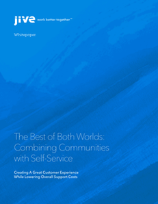 The Best of Both Worlds: Combining Communities with Self-Service