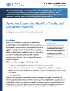 Serverless Computing: Benefits, Trends, and Deployment Models