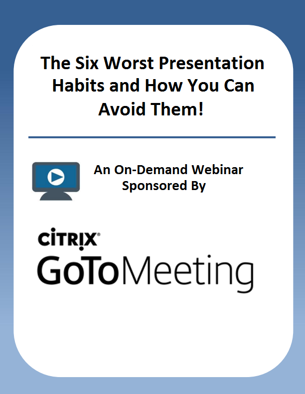 The Six Worst Presentation Habits and How You Can Avoid Them!