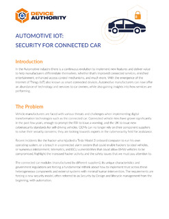 Automotive IoT: Security For Connected Car