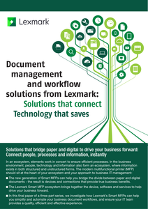 Document Management and Workflow Solutions from Lexmark