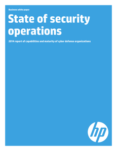 State of Security Operations 2014 Report of Capabilities and Maturity of Cyber Defense Organizations