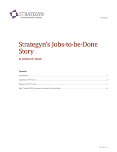 Strategyn's Jobs-to-be-Done Story