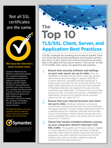 The Top 10 TLS/SSL CLient, Server, and Application Best Practices