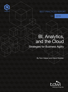 TDWI: BI, Analytics, and the Cloud: Strategies for Business Agility