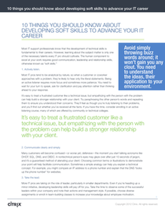 10 Things You Should Know About Developing Soft Skills to Advance Your IT Career