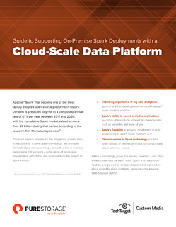 Guide to Supporting On-Premise Spark Deployments with a Cloud-Scale Data Platform