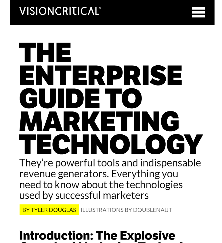 The Enterprise Guide to Marketing Technology