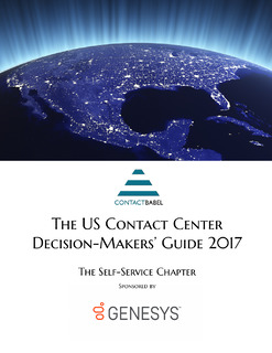 ContactBabel: The US Contact Center Decision-Makers' Guide: The Self-Services Chapter