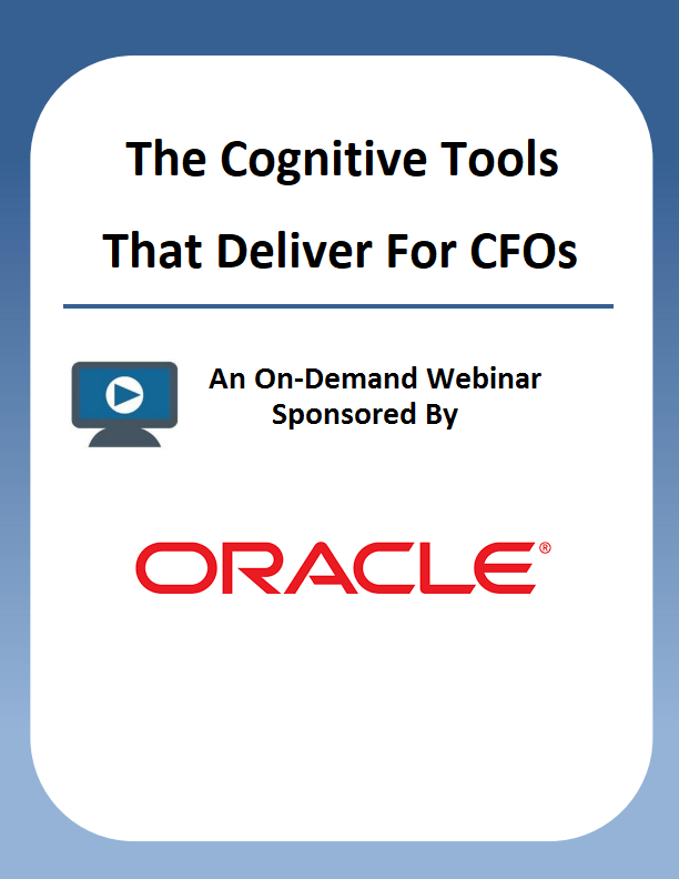 Webinar: The Cognitive Tools That Deliver For CFOs