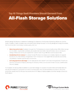 Top 10 Things SaaS Providers Should Demand from All-Flash Storage Solutions