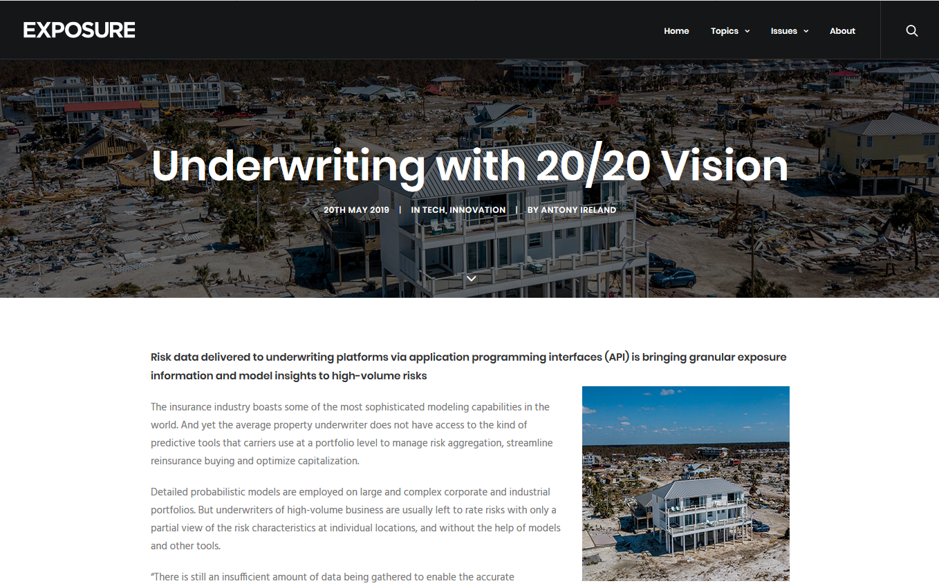 Underwriting with 20/20 Vision