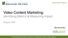 Video Content Marketing:  Identifying Metrics & Measuring Impact