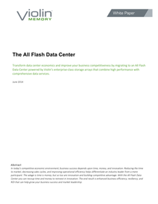 The All Flash Datacenter