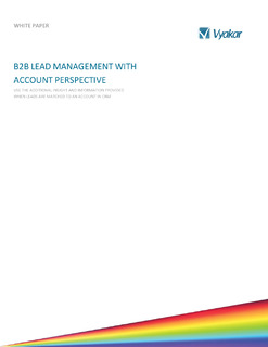 B2B Lead Management With Account Perspective