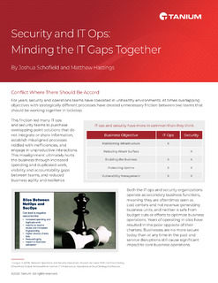 Security and IT Ops – Mind the IT Gaps Together