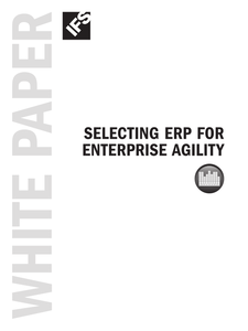 Selecting ERP for Enterprise Agility