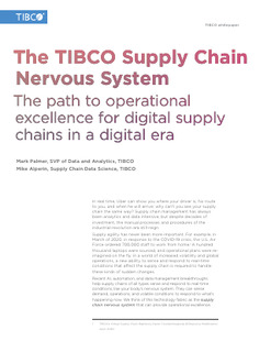 The Digital Supply Chain Nervous System