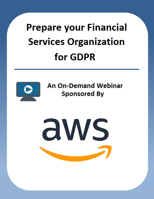 Prepare your Financial Services Organization for GDPR
