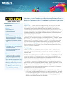 Western Union Implements Enterprise Data Hub on its Path to Deliver an Omni-channel Customer Experience