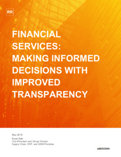 Financial Services: Making Informed Decisions with Improved Transparency