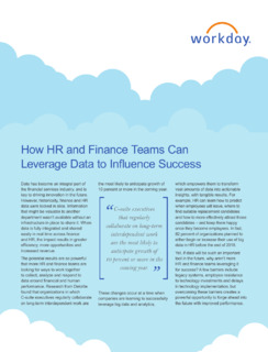 How HR and Finance Teams Can Leverage Data to Influence Success