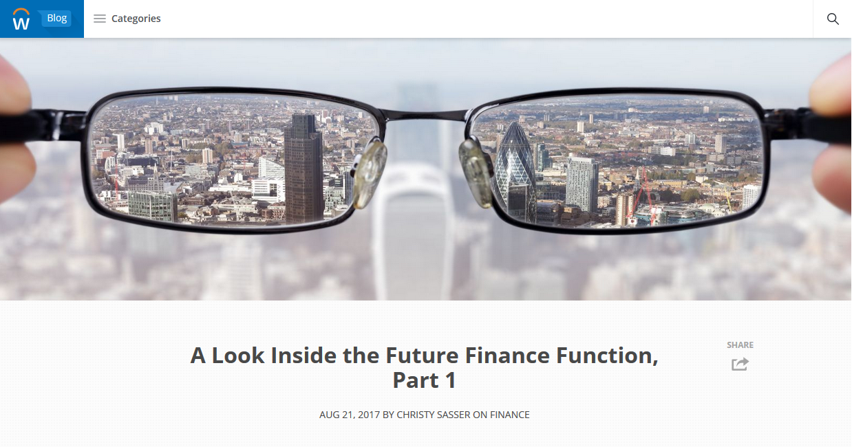 A Look Inside the Future Finance Function, Part 1