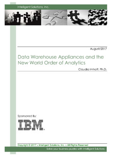 Data Warehouse Appliances and the New World Order of Analytics