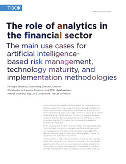 The Role of Analytics in the Financial Sector