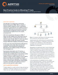 Best Practices Guide to Allocating IT Costs