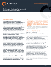 Managing the Cost, Quality and Value of IT Management