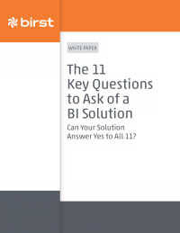 11 Key Questions to Ask of a BI Solution