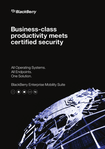 Business-Class Productivity Meets Certified Security