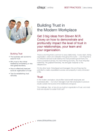 Building Trust in the Modern Workplace