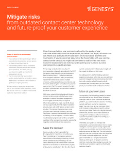 Future-proof Your Customer Experience and Mitigate the Risks of Outdated Contact Center Technology