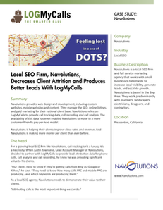 Local SEO Firm, Navolutions,  Decreases Client Attrition and Produces Better Leads With LogMyCalls