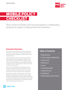 Mobile Policy Checklist
