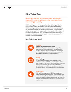 Data Sheet: Citrix Virtual Apps