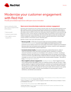 Modernize Your Customer Engagement with Red Hat