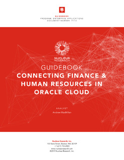 Connecting Finance & Human Resources in Oracle Cloud