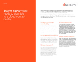 Twelve Signs You're Ready to Upgrade to a Cloud Contact Center