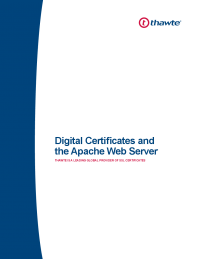 Digital Certificates and the Apache Web Server
