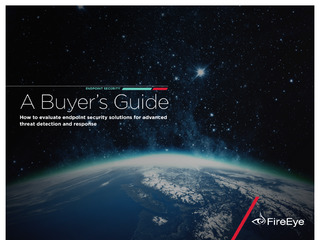 Endpoint Security: A Buyer's Guide