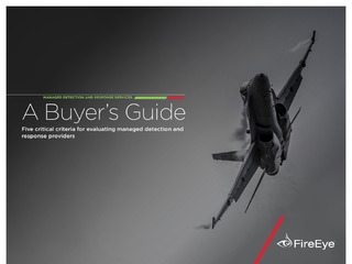 Managed Detection and Response Services: A Buyer's Guide